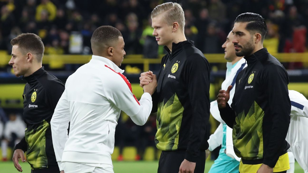 Dortmund's Haaland: PSG star Mbappe's hat trick vs. Barcelona motivated me - ESPN