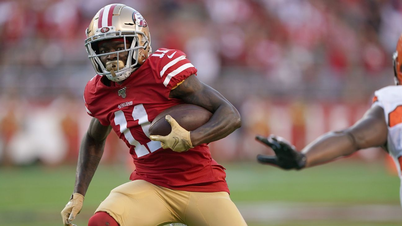 Chicago Bears sign wide receiver Marquise Goodwin to 1-year deal -