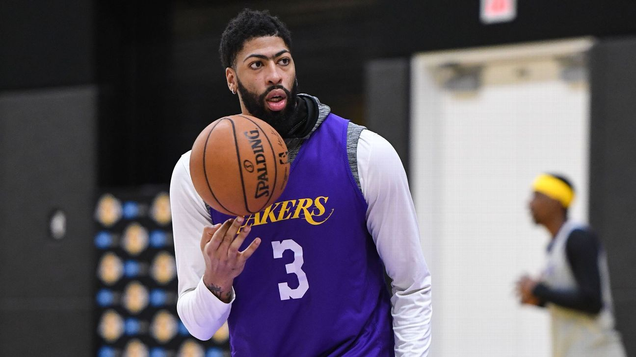 Los Angeles Lakers' Anthony Davis says he's being careful with Achilles issue - ESPN