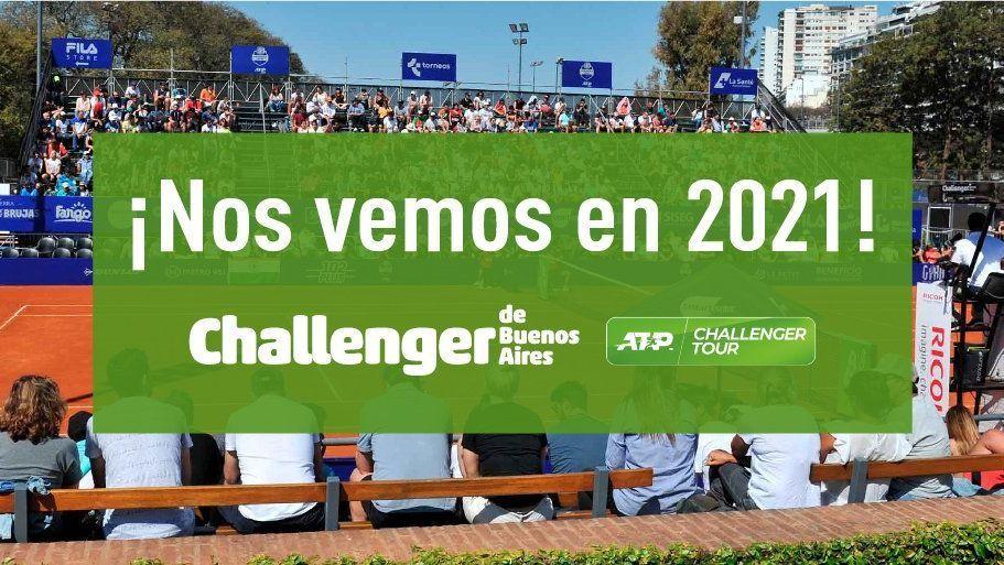 Challenger de Buenos Aires se pasó para 2021