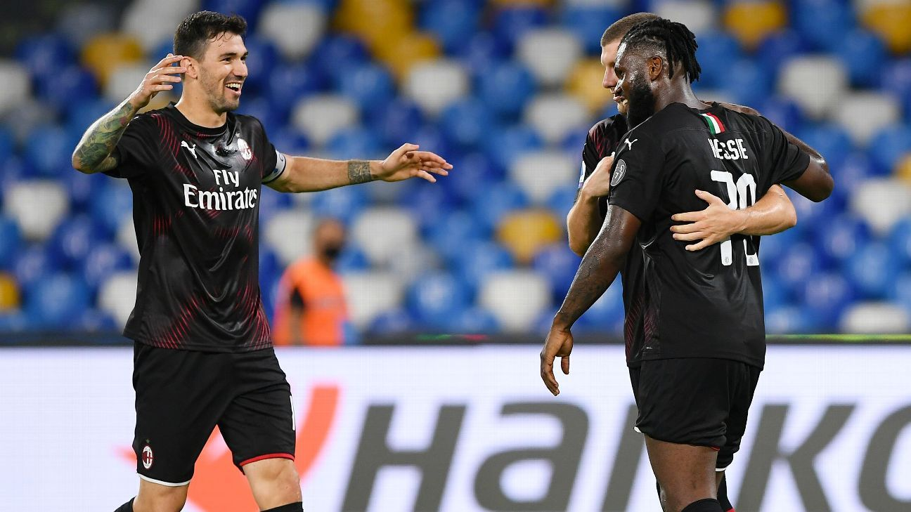 Napoli Vs AC Milan Football Match Report July 12