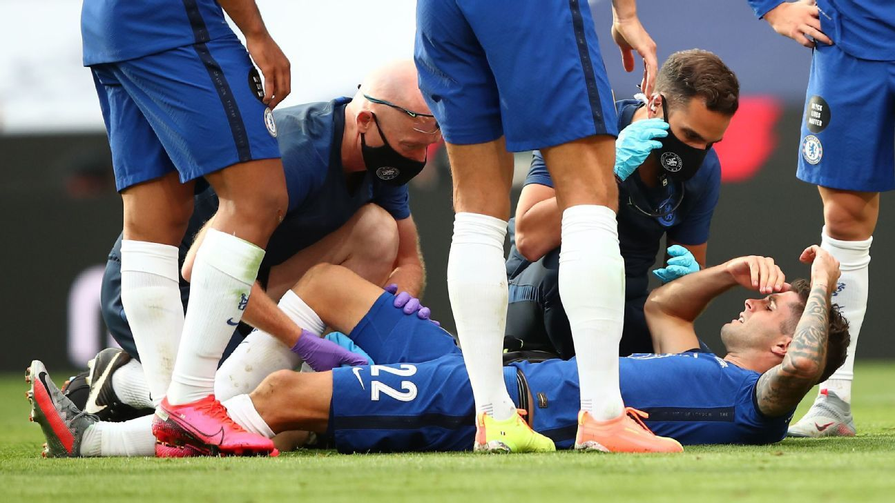 FA Cup final: Chelsea's Pulisic scores, injures hamstring ...
