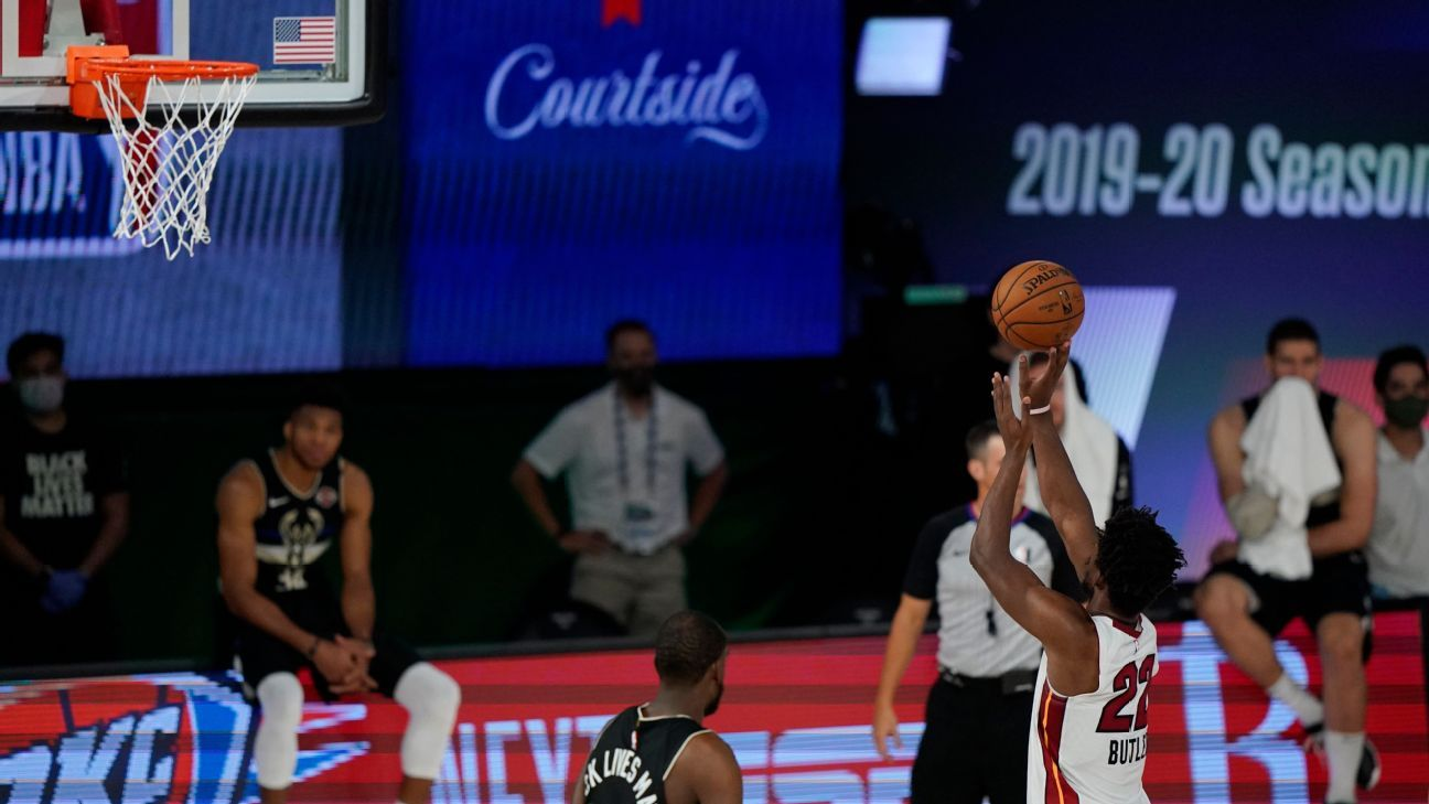Heat Go Up 2 0 On Bucks As Jimmy Butler Sinks Free Throws After Time Expires In Wild Finish