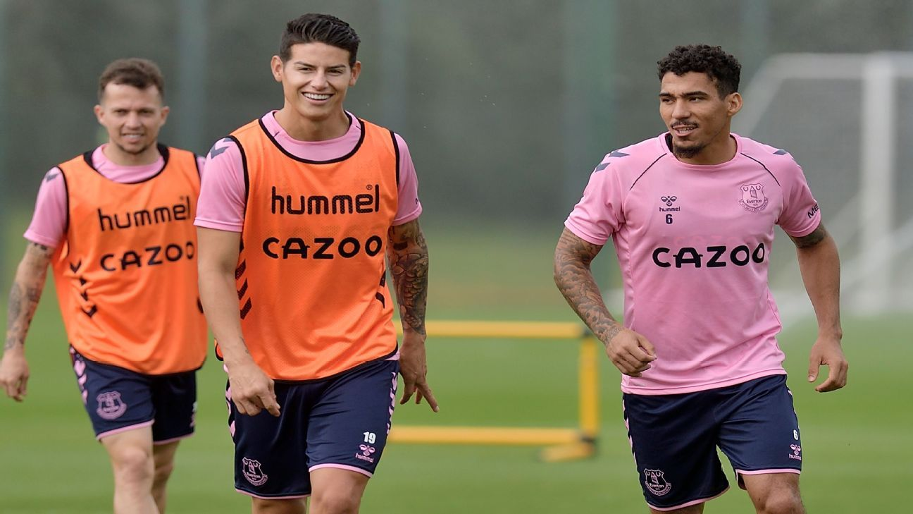 El debut de James con Everton podría darse rodeado de colombianos