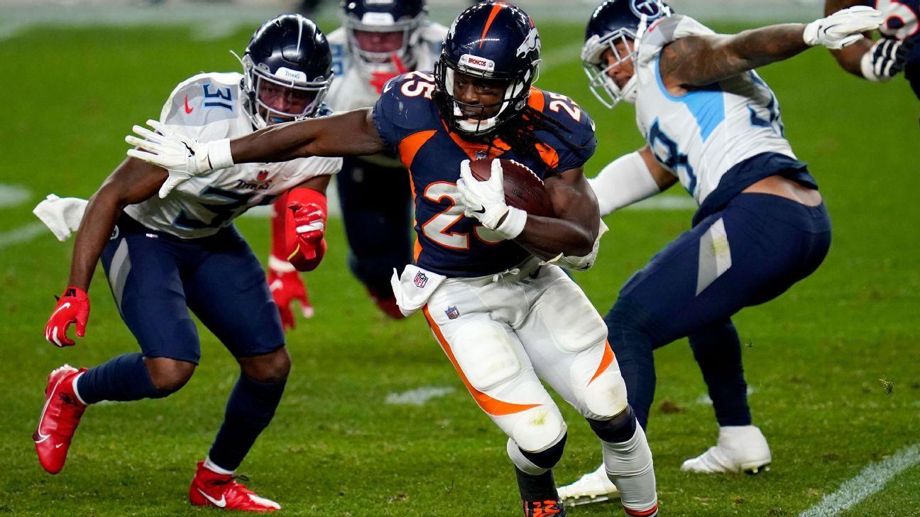 Sources -- Denver Broncos RB Melvin Gordon out vs. New England Patriots with illness - ESPN