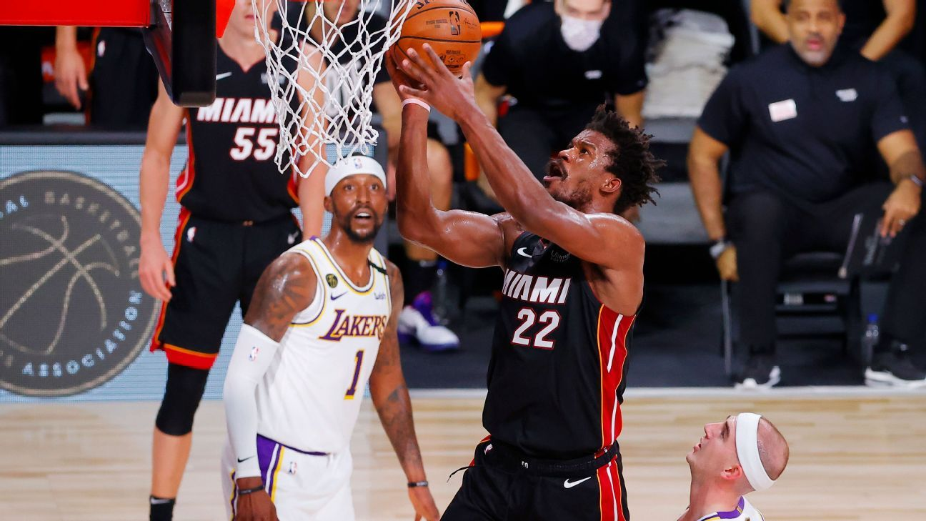 Jimmy Butler carries Miami Heat to Game 3 win over Los Angeles Lakers in NBA  Finals