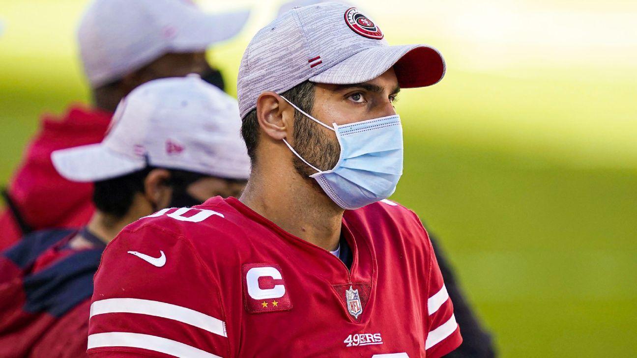 San Francisco 49ers' Jimmy Garoppolo (ankle) set to start vs. Los Angeles  Rams
