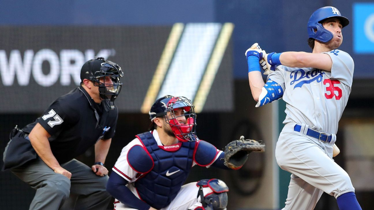 Los Angeles Dodgers' Cody Bellinger to DH in Game 4 due to back stiffness – ESPN