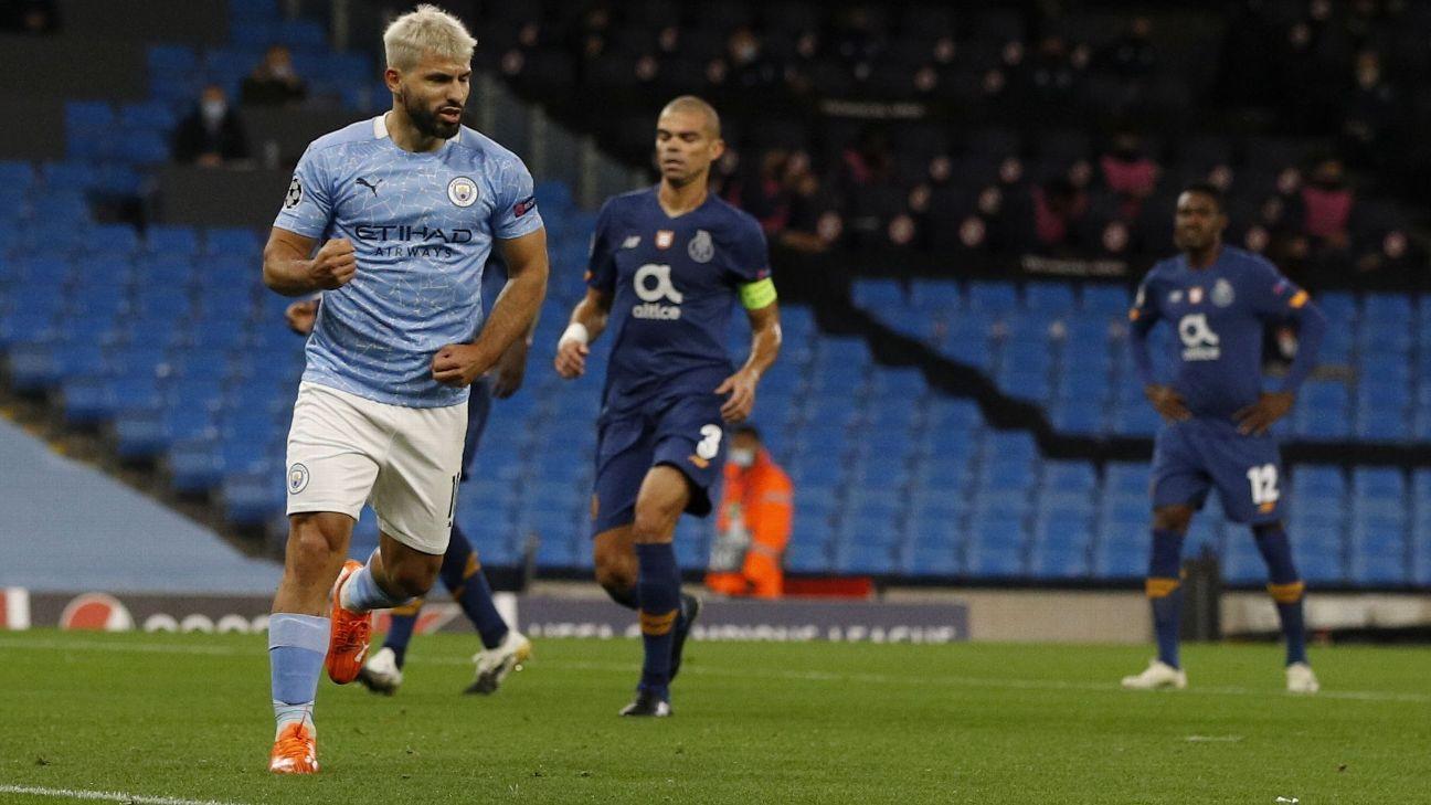 El partido del Kun Agüero en el triunfo del Manchester City ante Porto por la UEFA Champions League