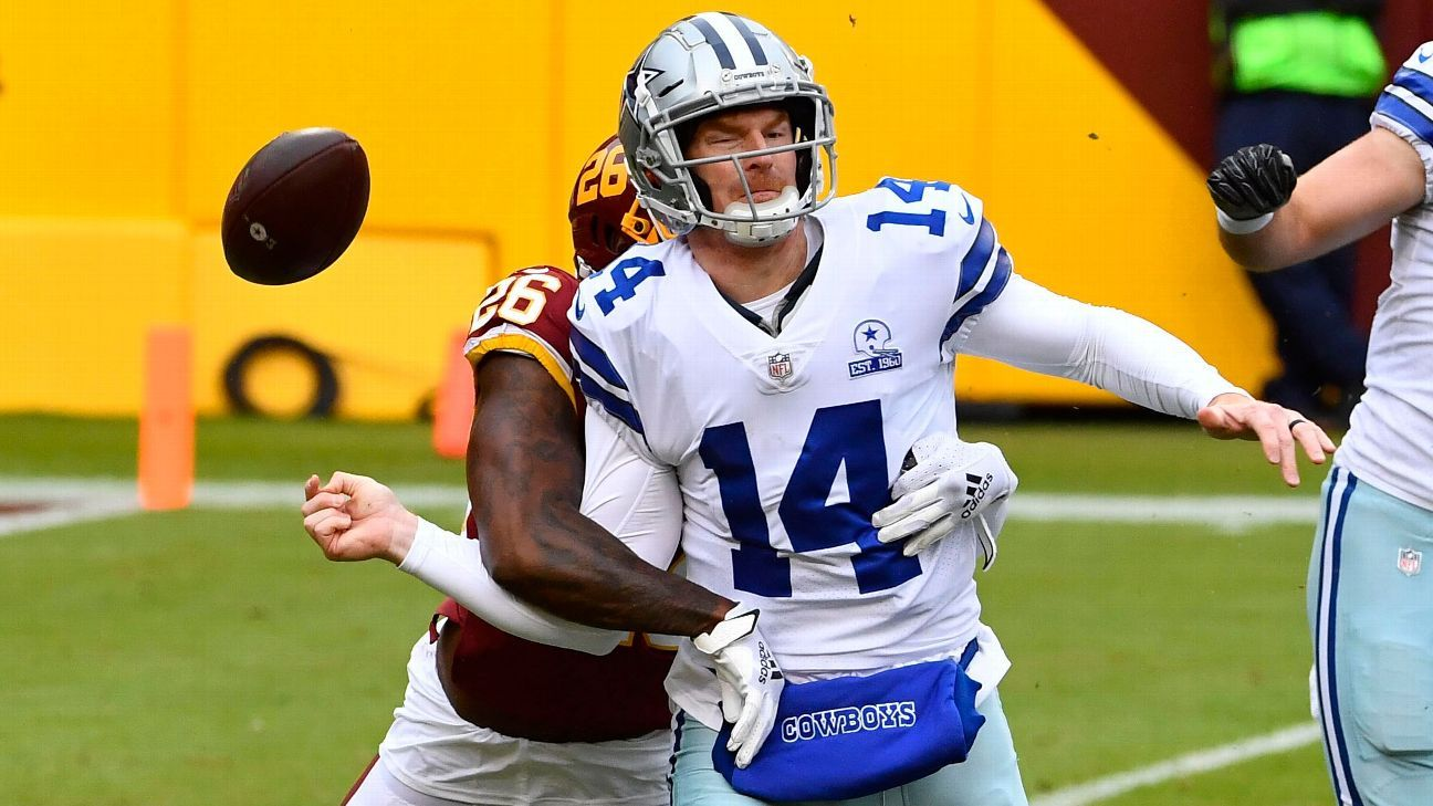 Cowboys QB Dalton out for game after hard hit