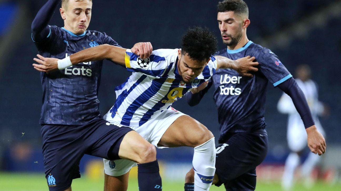 Sin Matheus Uribe pero con Luis Díaz, Porto visita al colero Marsella por la UEFA Champions League