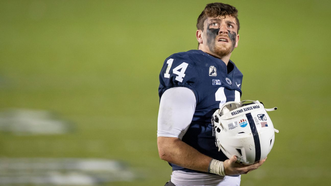 Penn State QB Sean Clifford expected to be '100 percent' healthy vs. Ohio State, says James Franklin