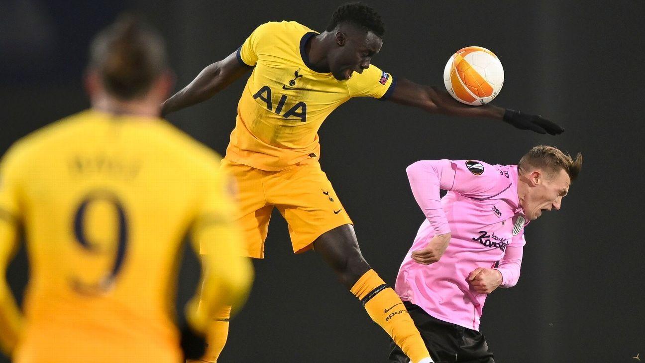 Dávinson regresa a la titular de Tottenham en la clasificación a 16vos de Europa League