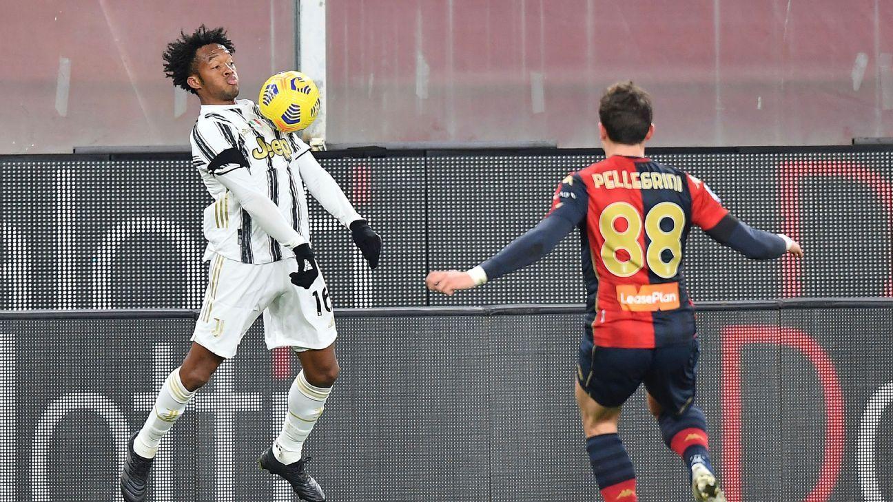 Cuadrado fue protagonista en el triunfo de la Juventus ante Genoa