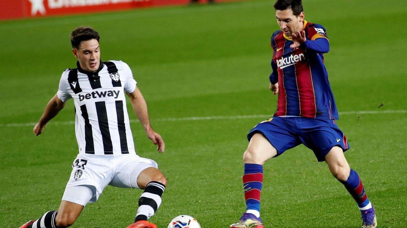 Barcelona vs. Levante - Reporte del Partido - 13 diciembre, 2020 - ESPN
