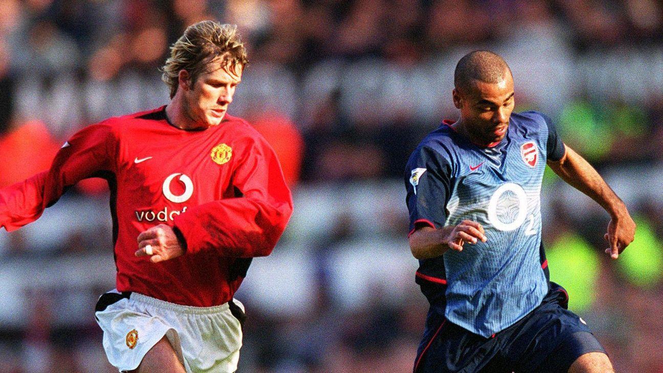 Arsenal X Manchester United Edu Deitou E Rolou Em Jogo Que Rendeu Chuteirada De Ferguson Em Beckham