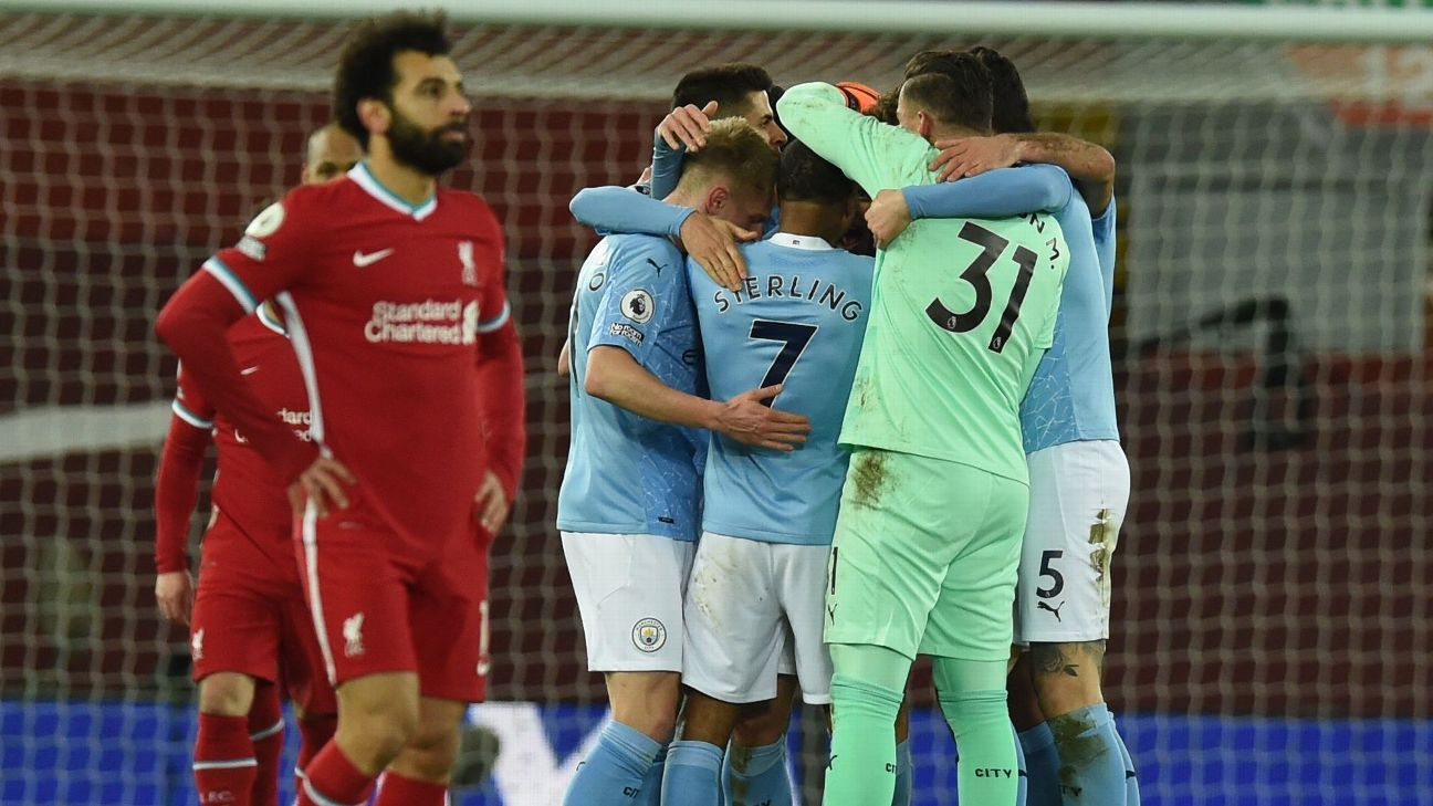 Man City thrash Liverpool to make emphatic statement as Premier League champions-elect - ESPN India