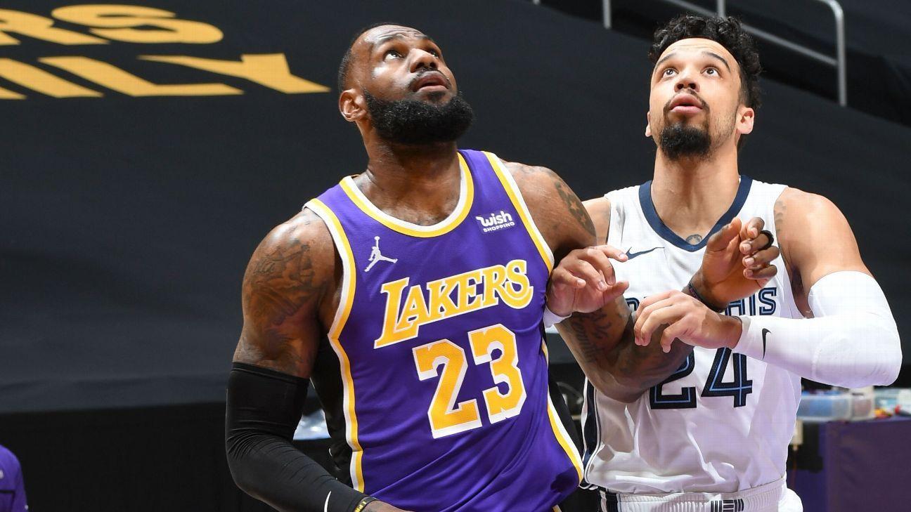 Los Angeles Lakers' LeBron James Kyle Kuzma warned by NBA for violating anti-flopping rule – ESPN