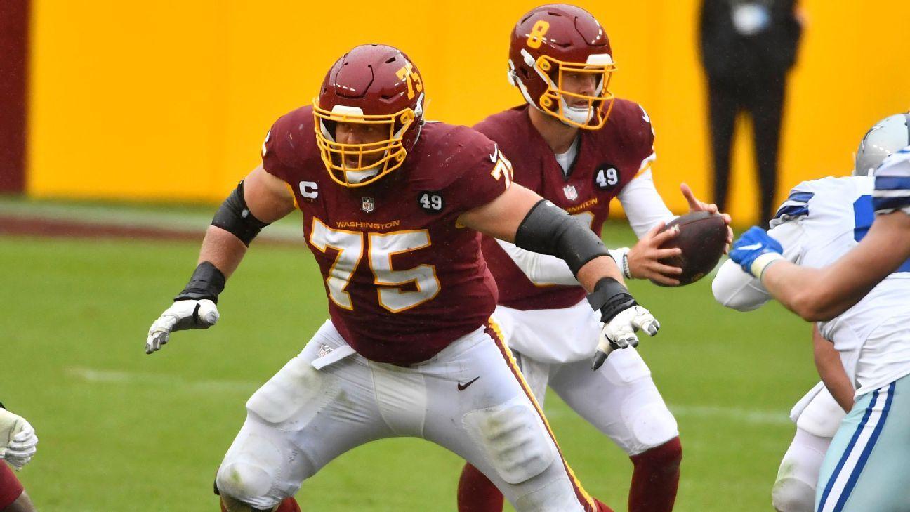 Washington Football Team places franchise tag on Brandon Scherff - ESPN