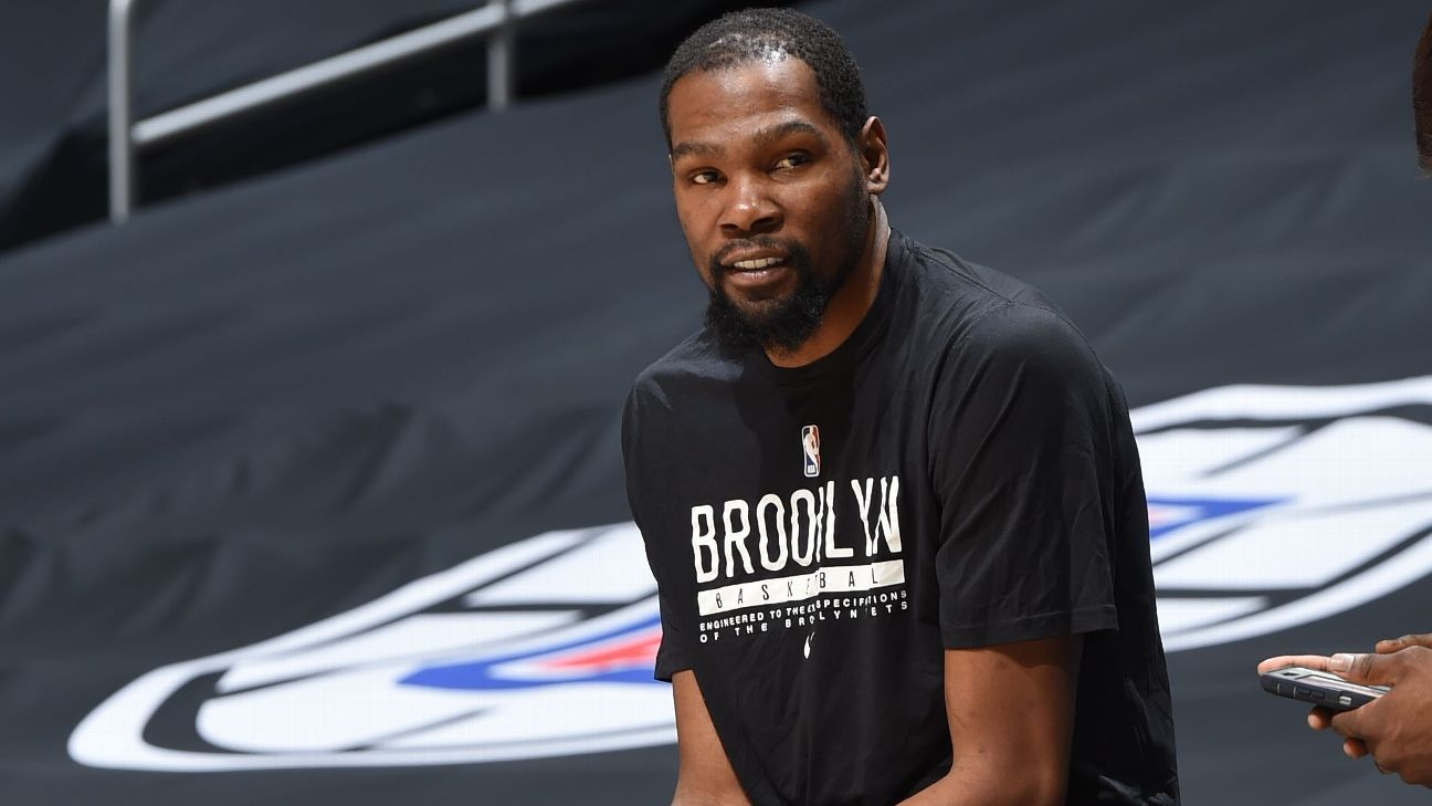 Brooklyn Nets' Kevin Durant to get more imaging on injured hamstring - ESPN
