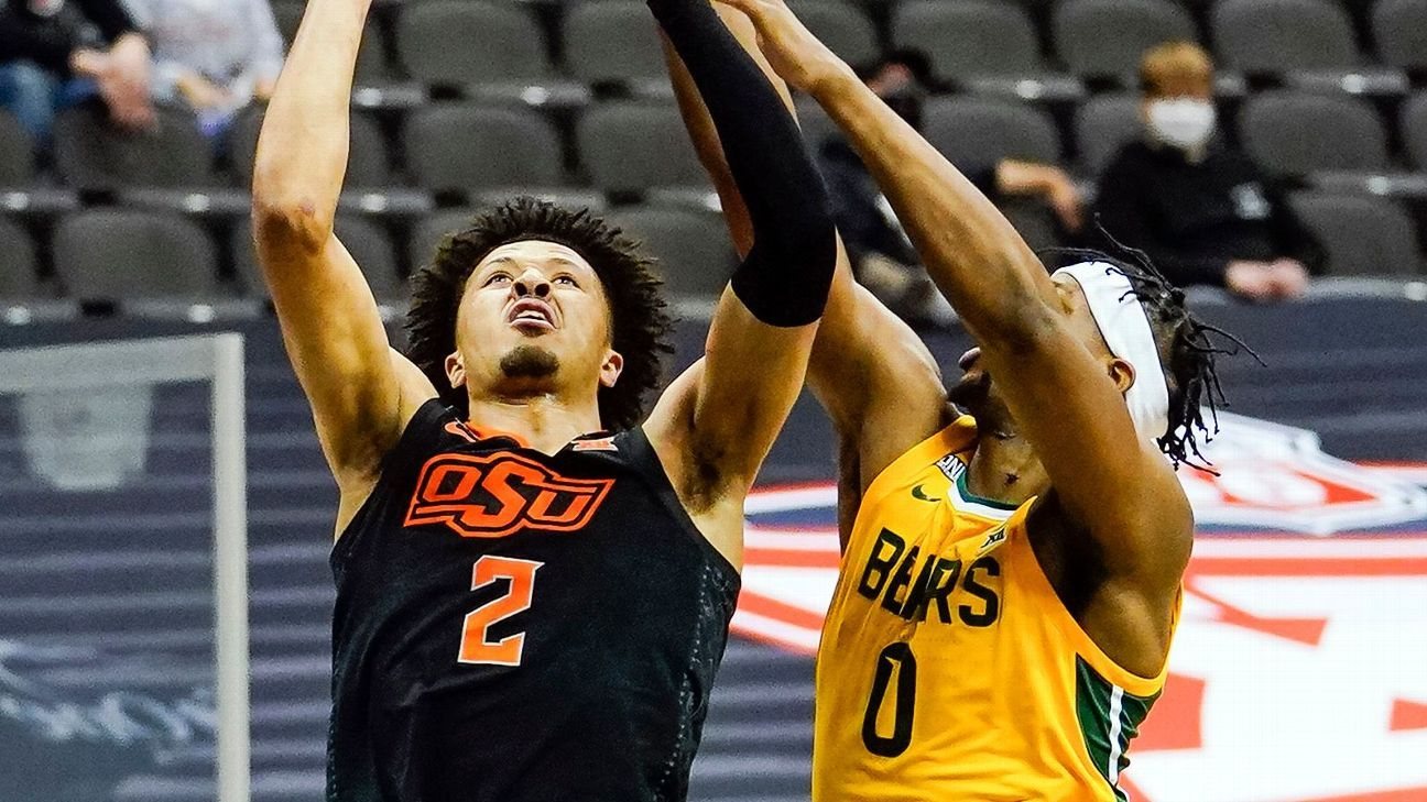 Oklahoma State stuns Baylor, nears 'vision' of Big 12 men's tournament title - ESPN