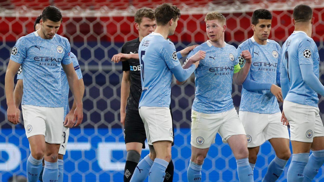 Manchester City vs. Borussia Monchengladbach - Reporte del Partido - 16 marzo, 2021 - ESPN