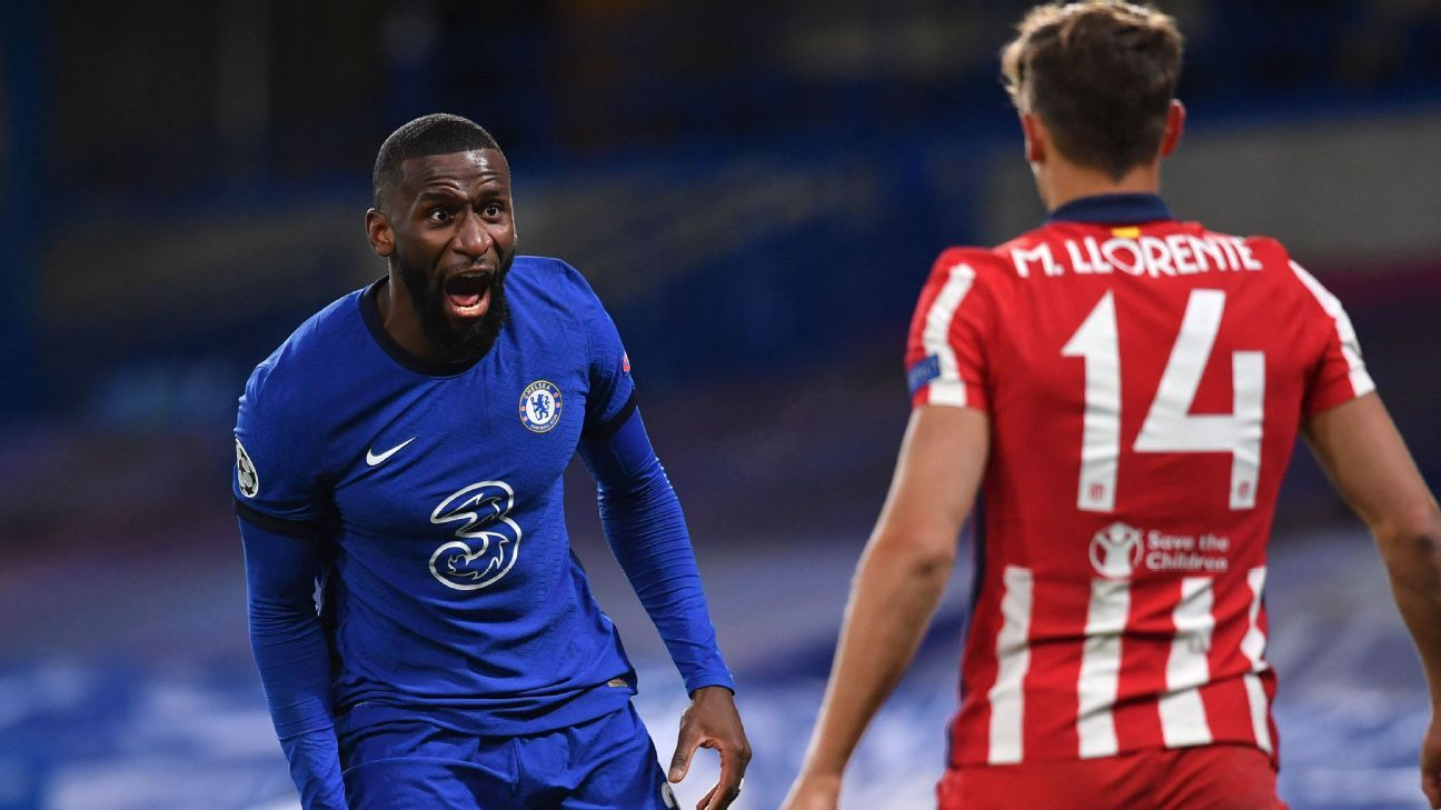 Rudiger, Werner 8/10 as Chelsea frustrate Atletico, reach UCL's final eight - ESPN India