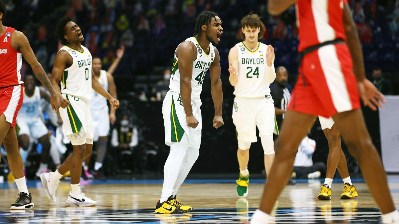 Scott Drew's Baylor Bears 'just keep pressing forward' securing spot in men's basketball title game – ESPN