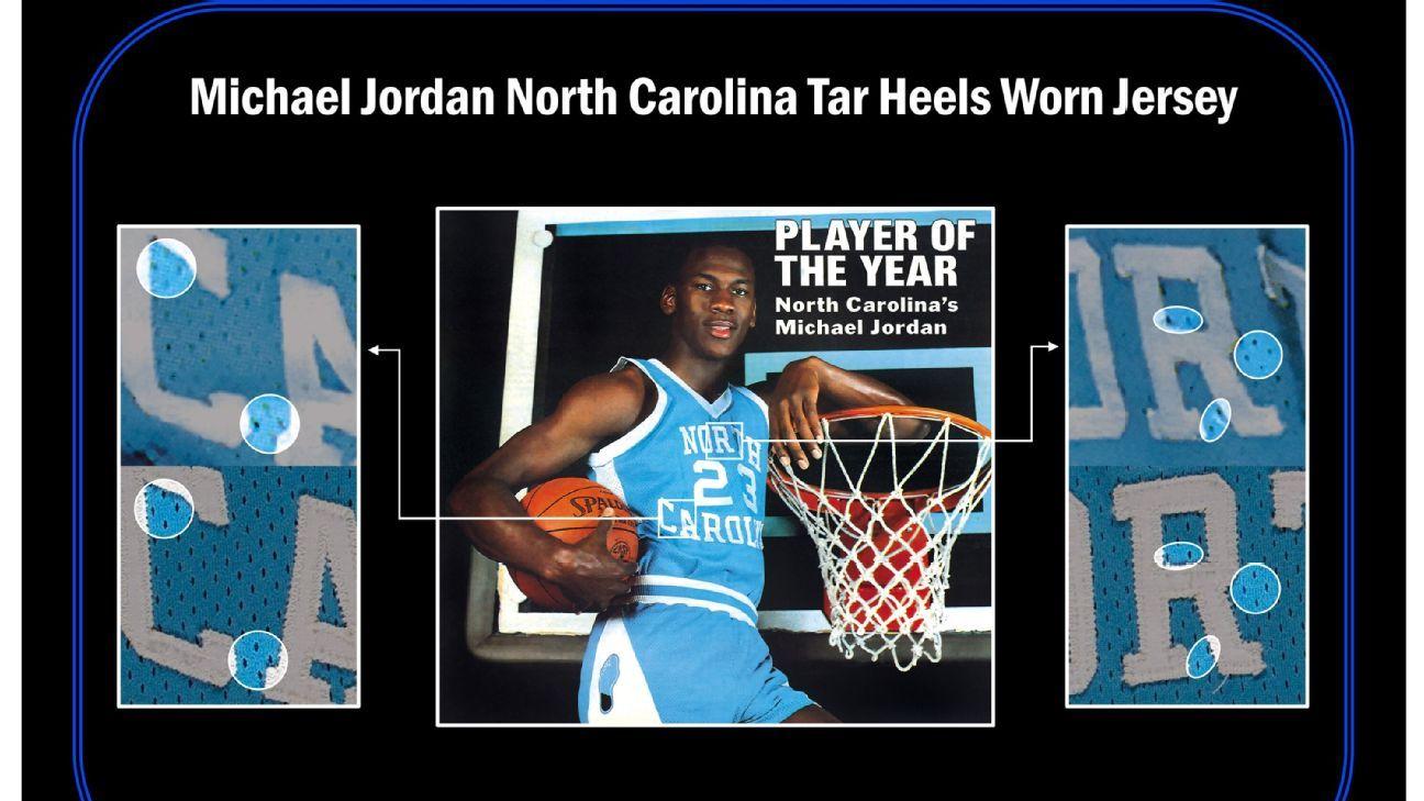 Jordan game-worn UNC jersey sells for $1.38M