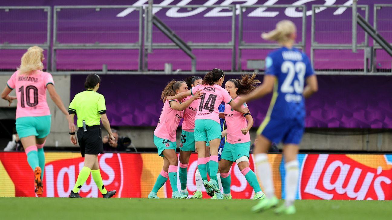 Sensational Barca crush Chelsea in UWCL final