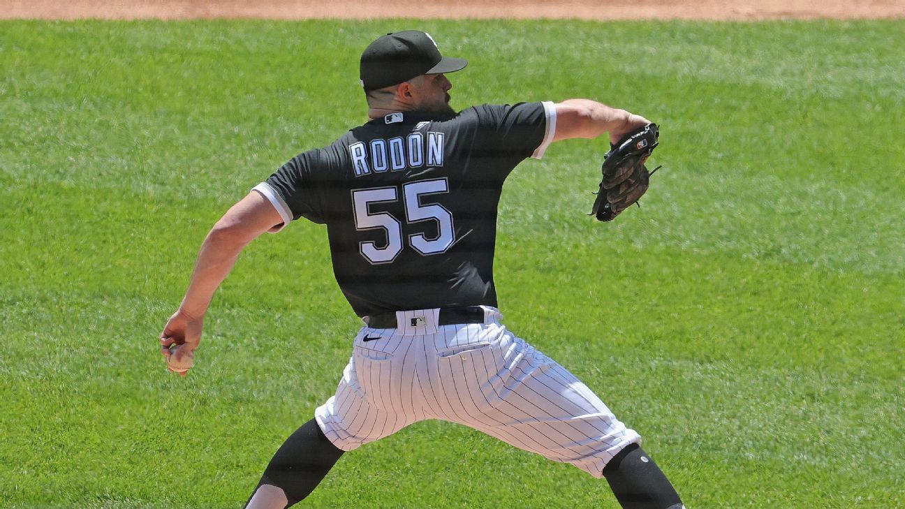 Chicago White Sox place Carlos Rodon on IL with left arm soreness