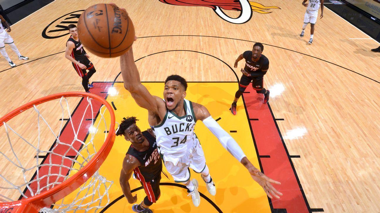 Giannis, Bucks stifle Heat with D to finish sweep thumbnail