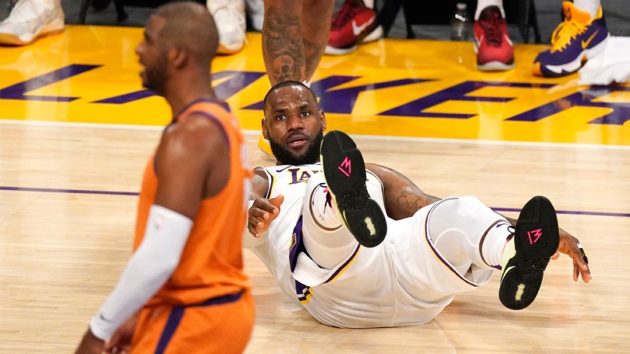 2021 NBA playoffs – Los Angeles Lakers' LeBron James ready for challenge if Anthony Davis' injury keeps him out – ESPN