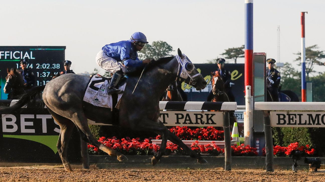 Betting favorite Essential Quality wins 2021 Belmont Stakes – ESPN