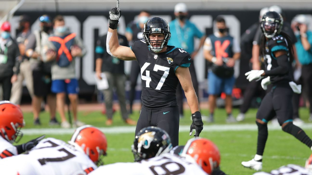 Pittsburgh Steelers fill need at linebacker, acquire Joe Schobert from Jacksonville Jaguars, source says
