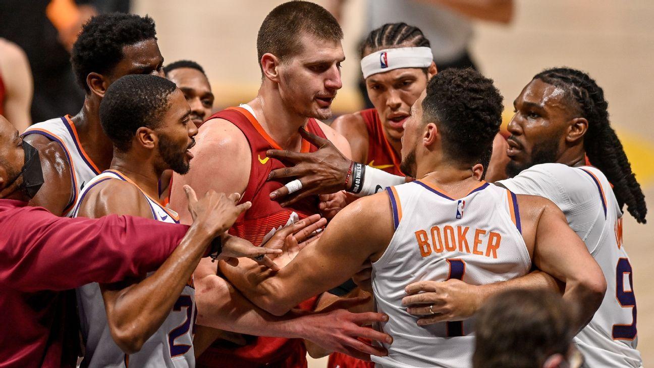MVP Nikola Jokic, de Nuggets, es expulsado luego de dar duro golpe a Cameron Payne, de Suns