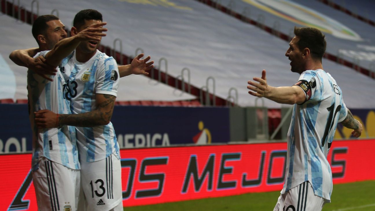 Messi sets up Argentina's first Copa win, Brazil keep racking up goals