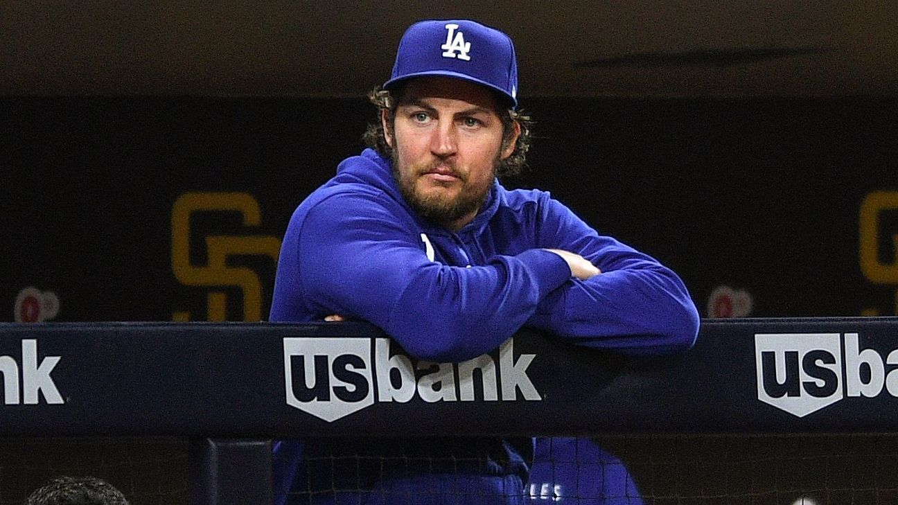 Source -- Los Angeles Dodgers P Trevor Bauer's season is over as MLB administrative leave extended through postseason