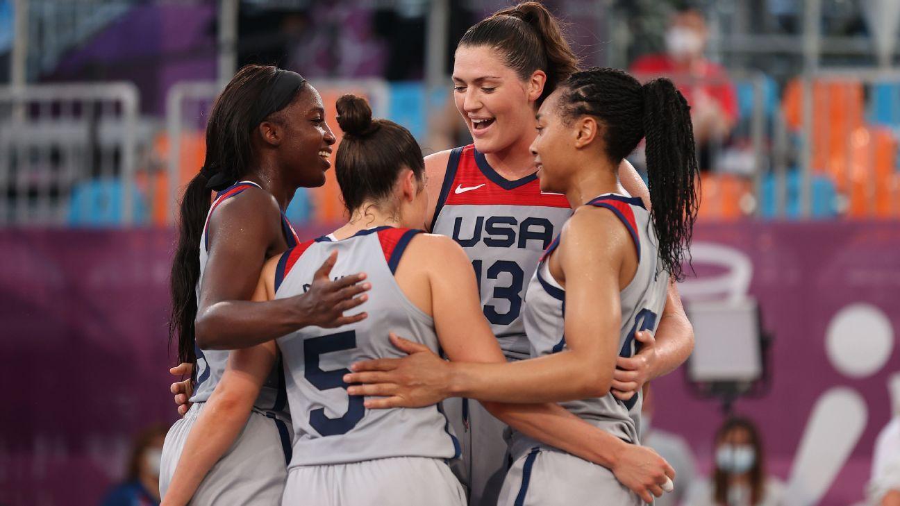 U.S. women win first 3-on-3 basketball gold medal at Tokyo Olympics
