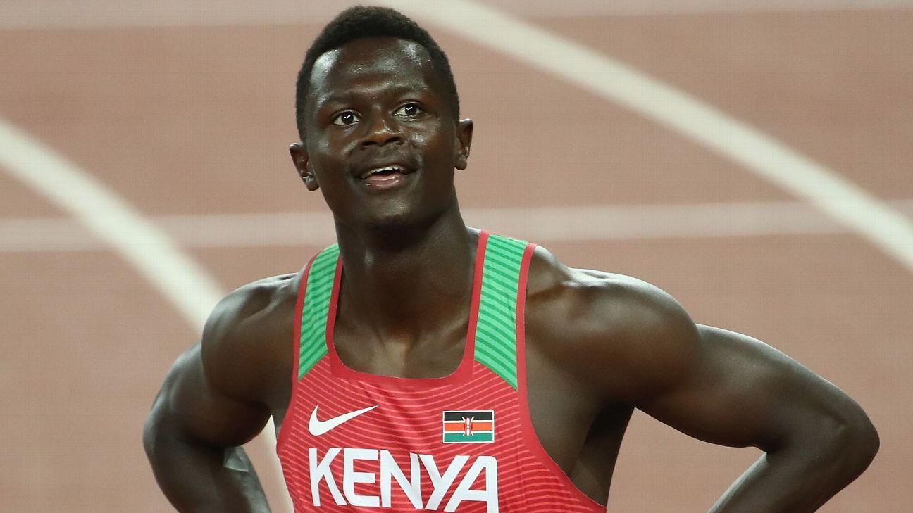Kenyan sprinter suspended over positive test