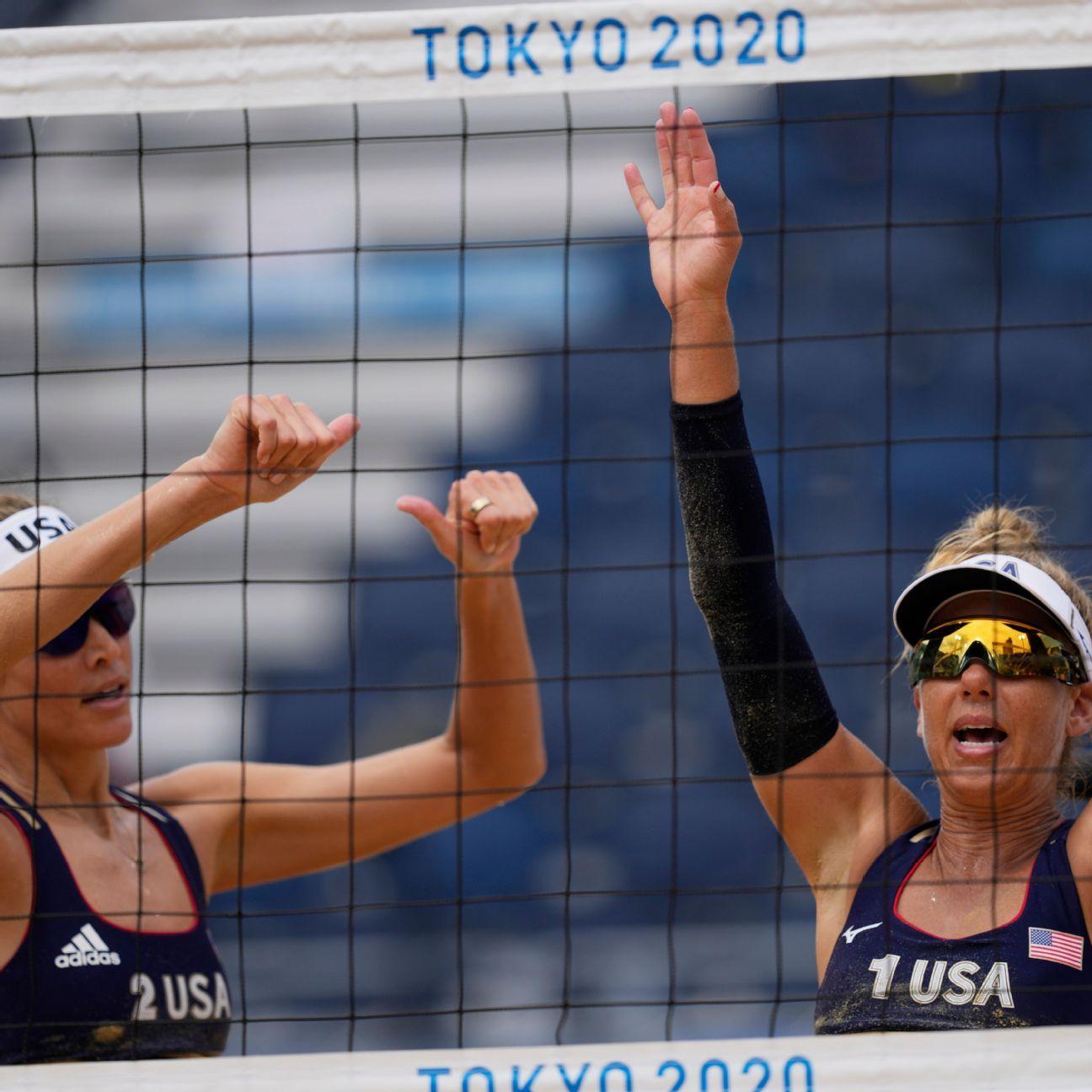 Ross, Klineman into beach volleyball quarterfinals