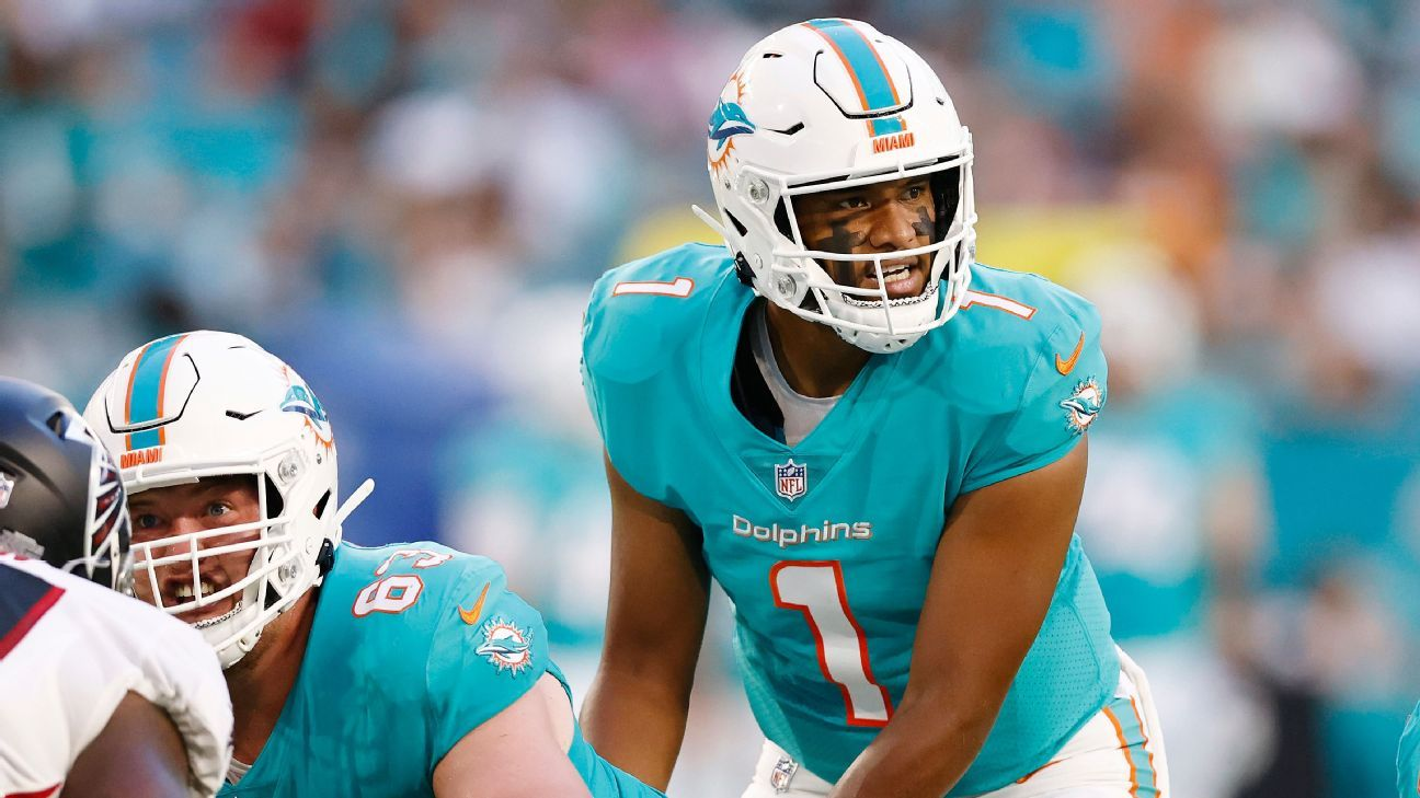 Miami Dolphins QB Tua Tagovailoa returns to practice