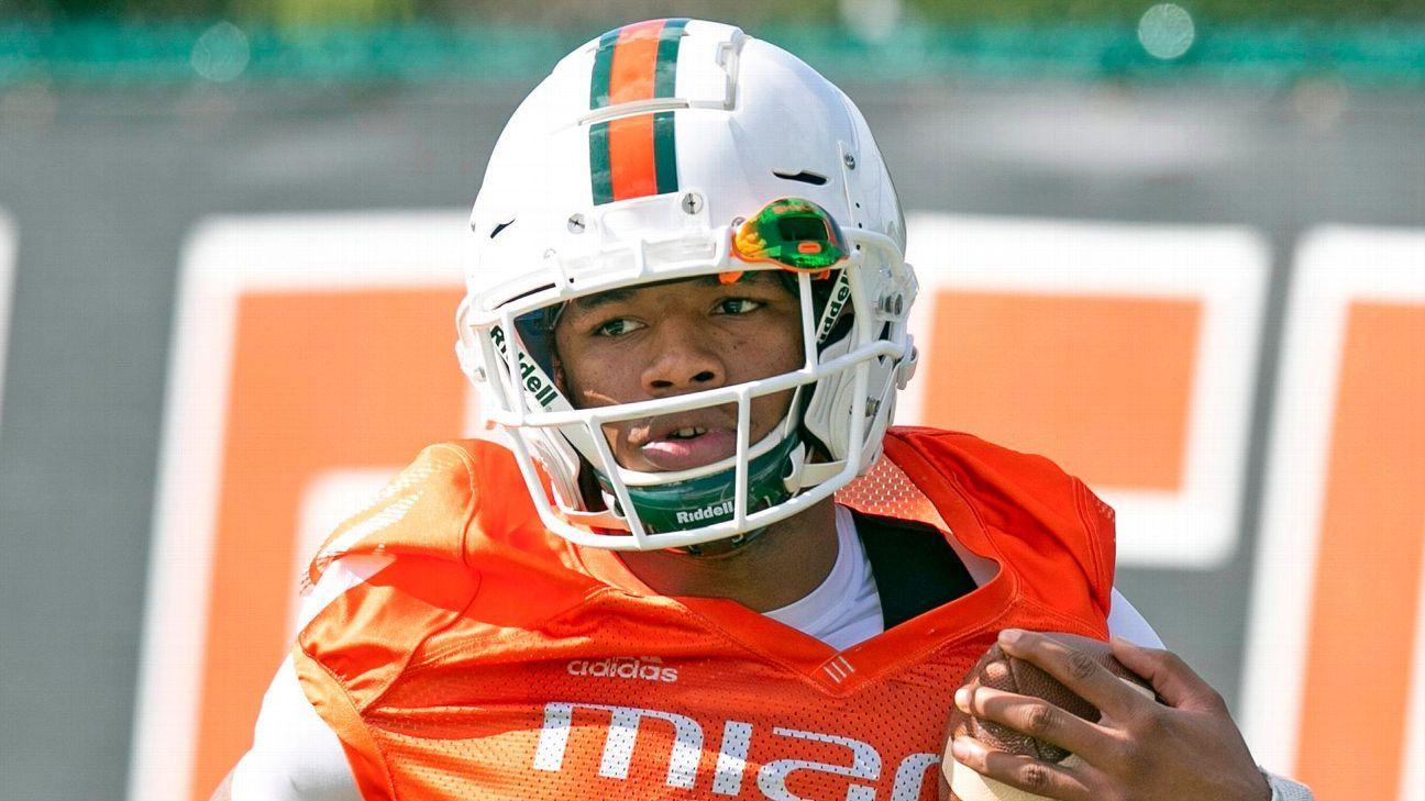 Miami Hurricanes suspend backups Jaylan Knighton, Larry Hodges