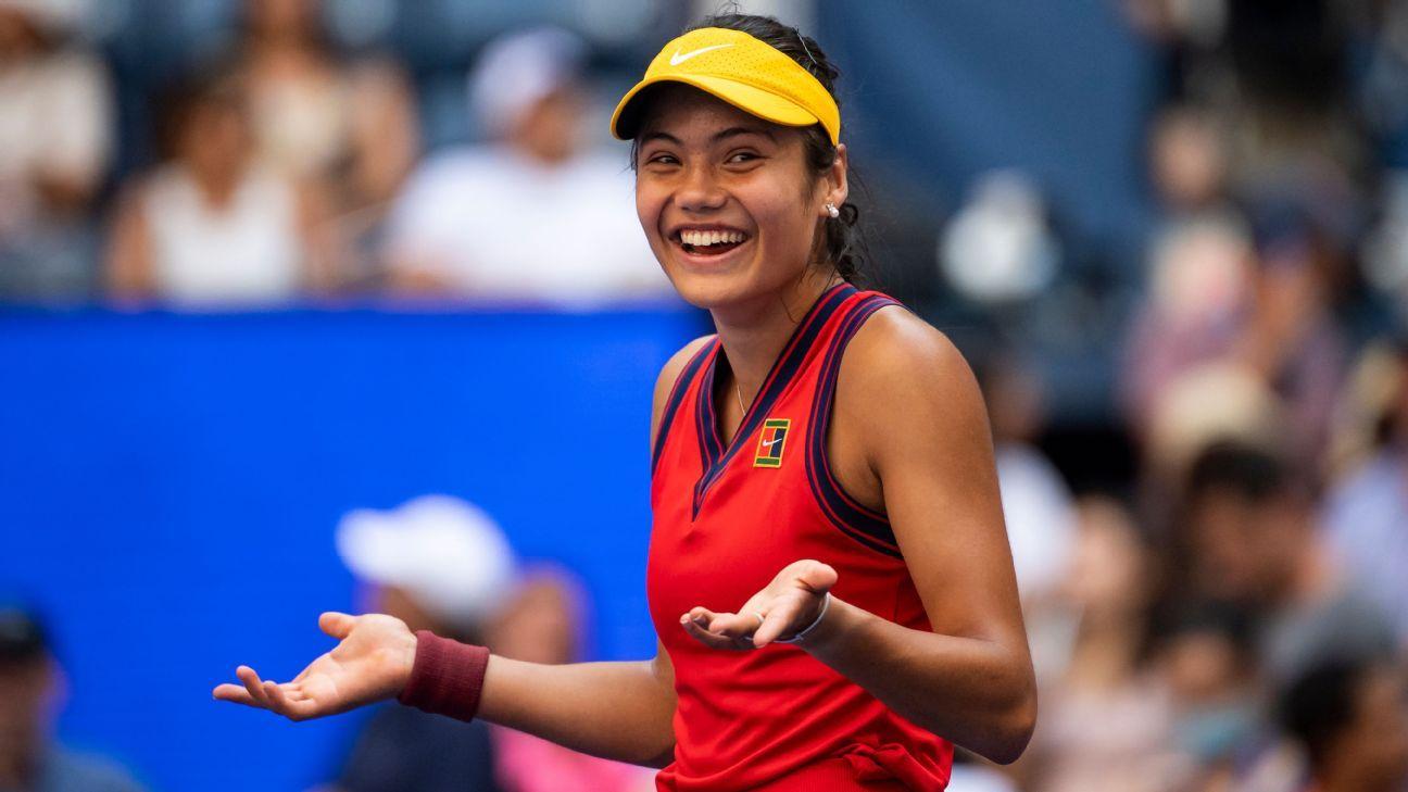 British teen Emma Raducanu keeps impressing en route to US Open 2021 quarterfinal berth - ESPN Australia