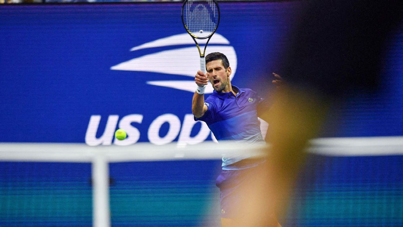 Novak Djokovic downs Jenson Brooksby at US Open to keep hope of calendar-year Grand Slam alive