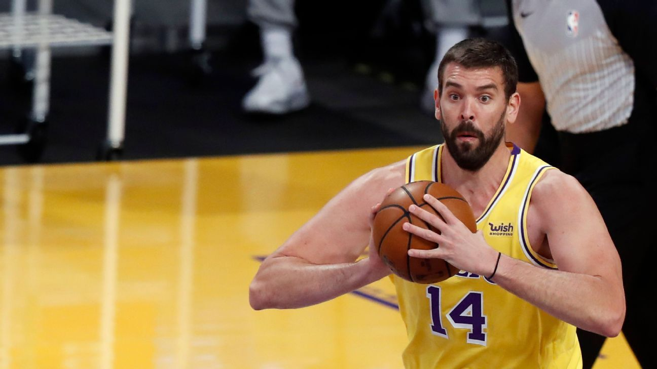 Sources -- Los Angeles Lakers again trade Marc Gasol to Memphis Grizzlies, who plan to waive veteran