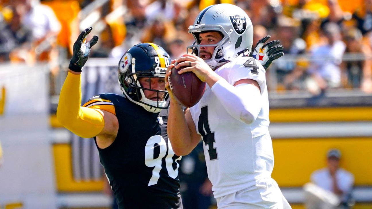 Pittsburgh Steelers' T.J. Watt ruled out; Trai Turner ejected after spitting toward Raiders player – ESPN