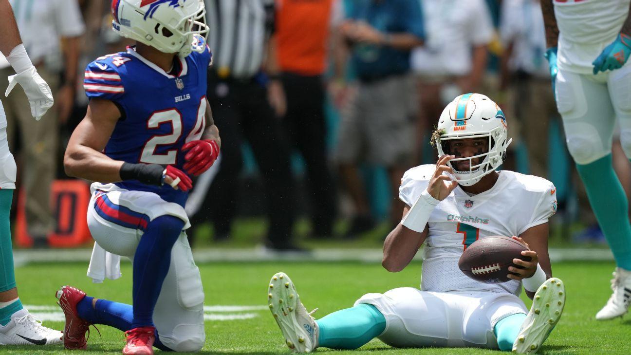 Miami Dolphins QB Tua Tagovailoa carted off with rib injury