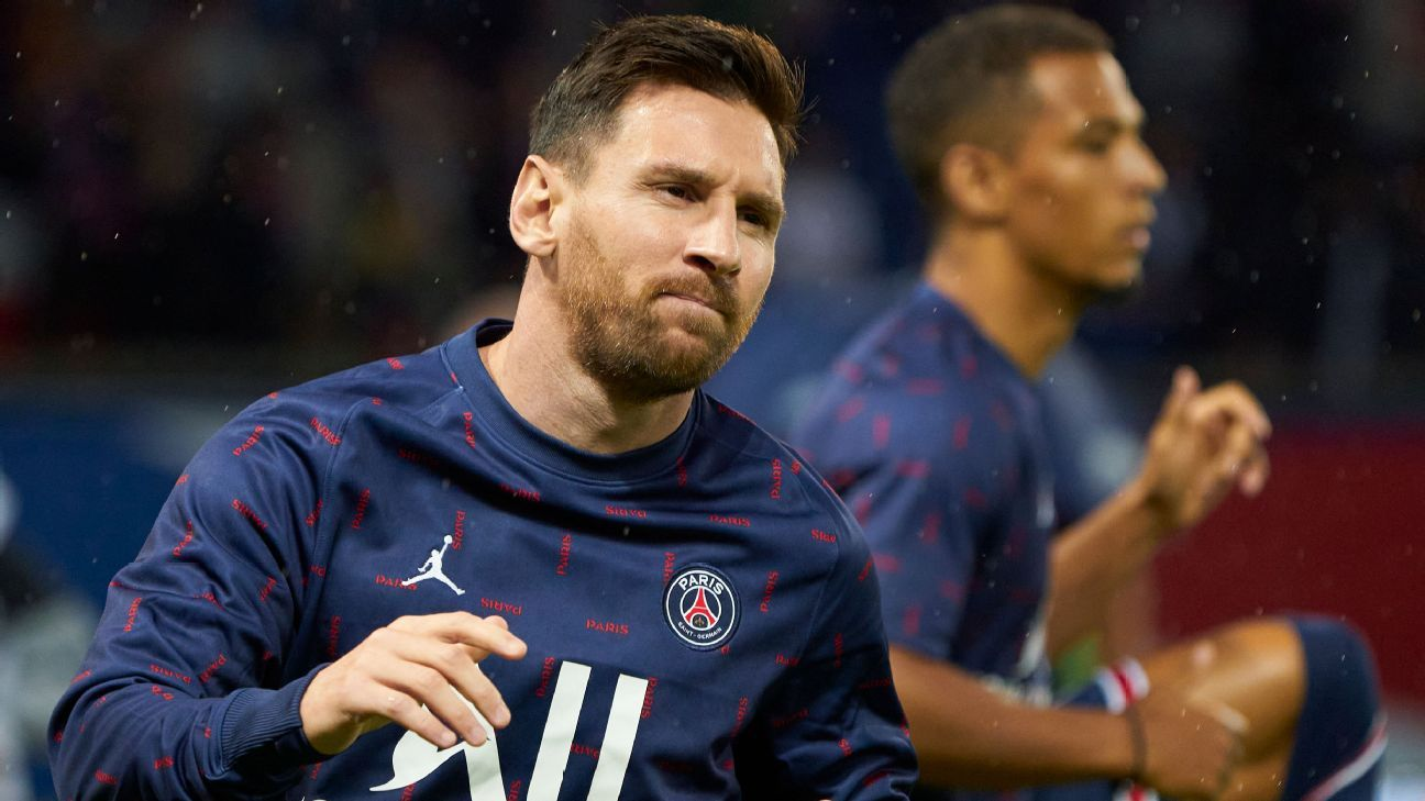 Messi tiene síntomas de una contusión ósea y es baja para el próximo partido de PSG