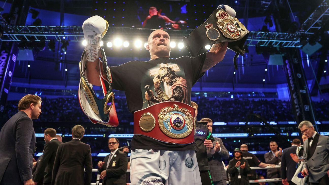Usyk stuns Joshua to become heavyweight champ